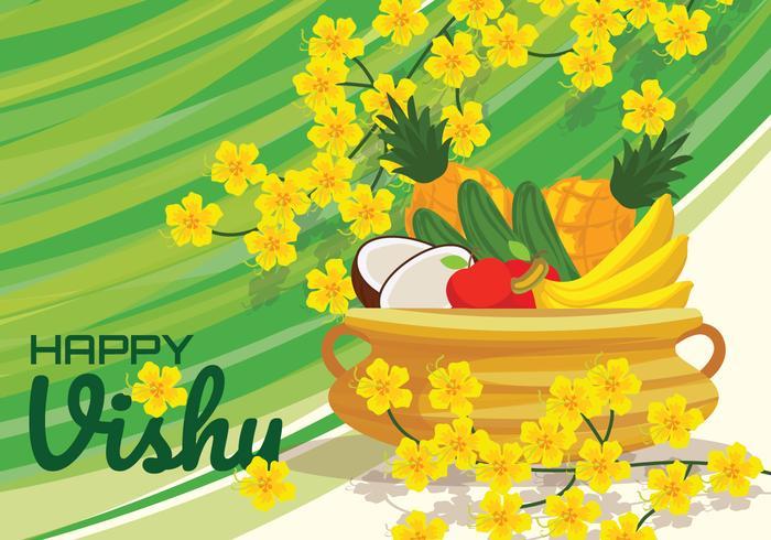 Feliz ilustración vectorial de Vishu