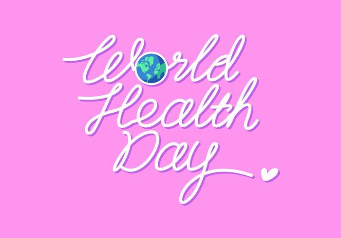 Vector de letras mano del día mundial de la salud