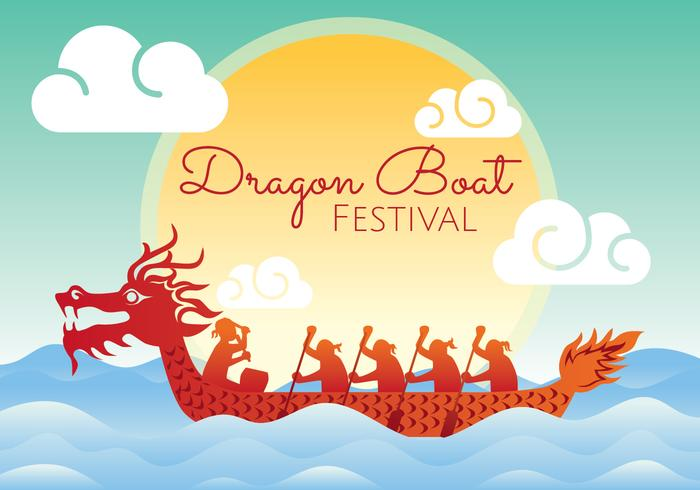 drakenboot festival illustratie