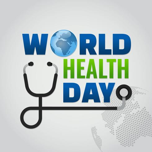 Vector de diseño del día mundial de la salud