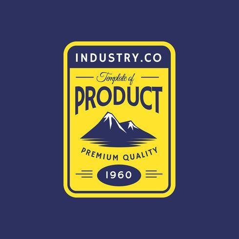 Plantilla de etiqueta retro de montaña