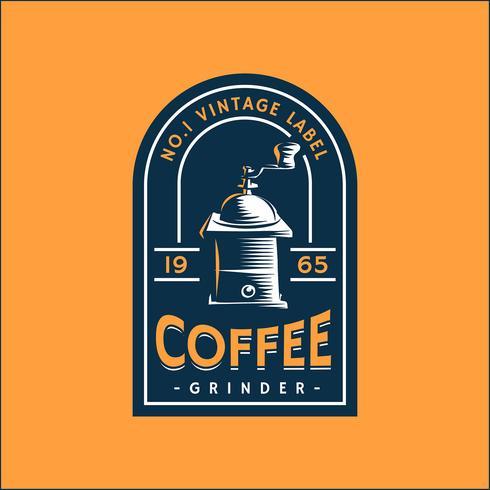 Plantilla de etiqueta retro de café