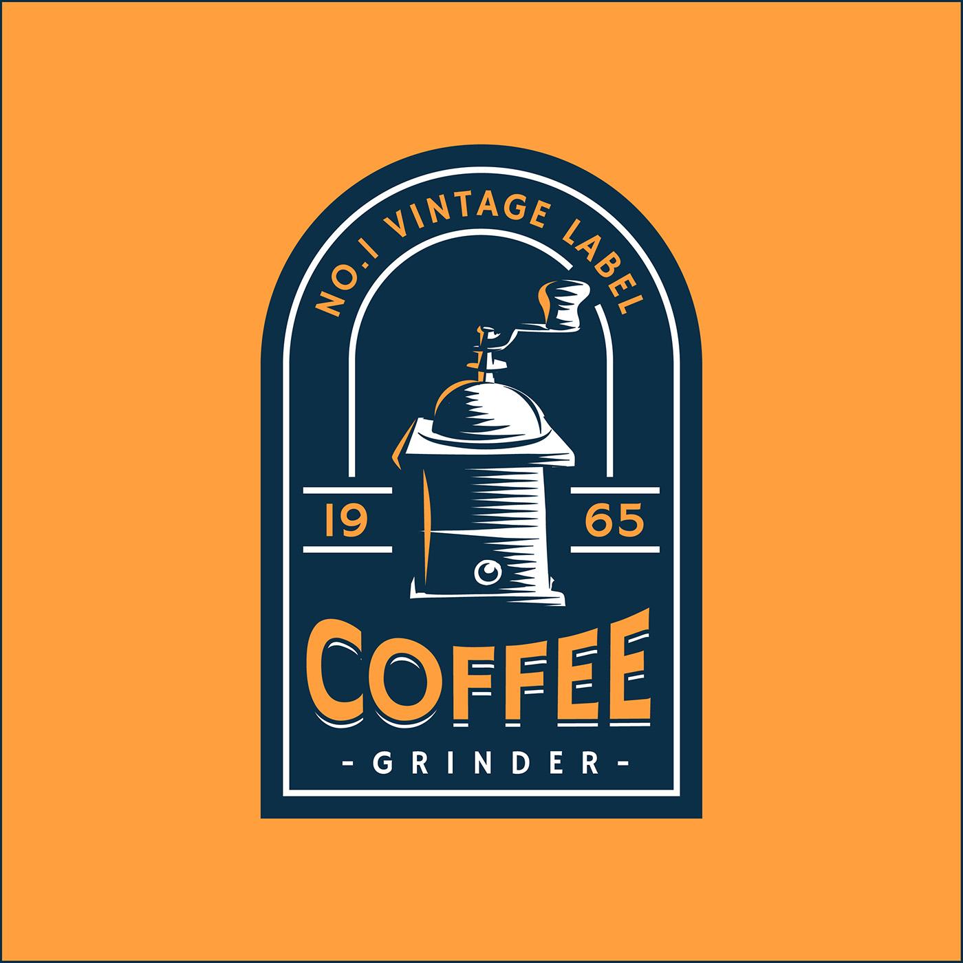 Coffee Retro Label Template 463720