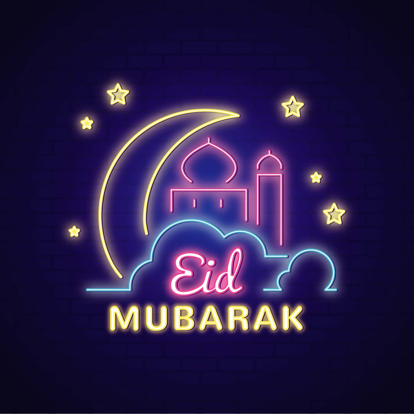 Eid Mubarak Vector Illustration - Download Free Vectors ...