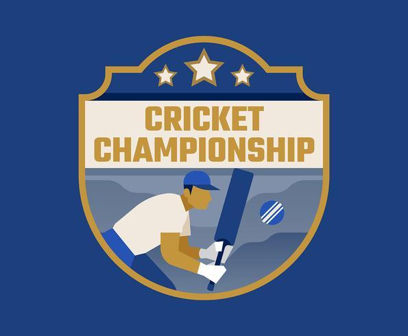 cricket mästerskap vektor