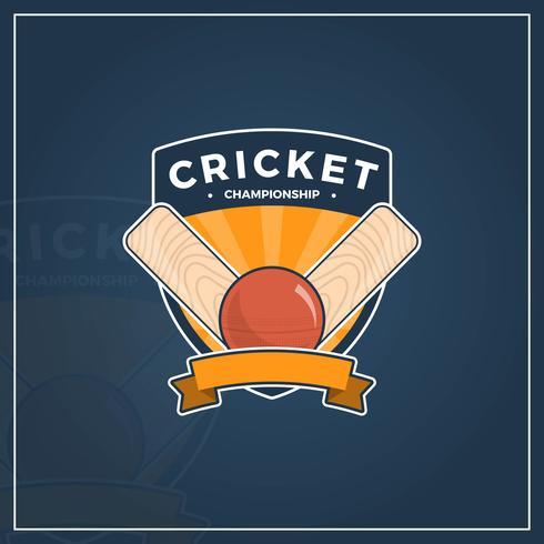Campeonato de cricket nacional plana vector