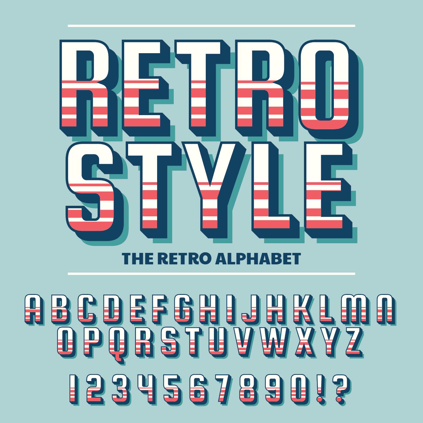 retro font vector s