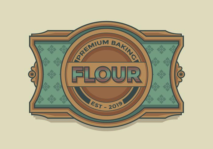 Premium Baking Flour Retro Label Vector