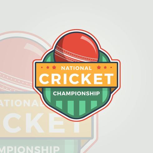 Flat National Cricket Championship vektor