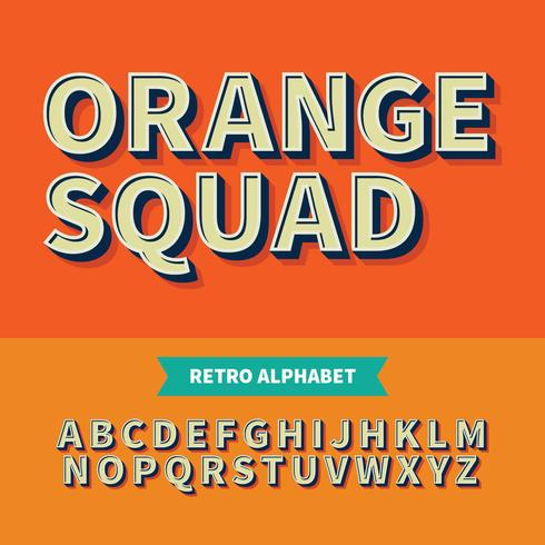 Vector van Retro FRont Bold and Alphabet