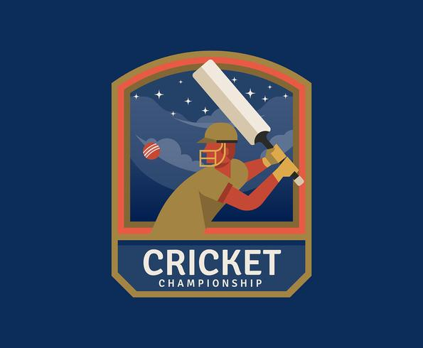 Cricket Championship vector