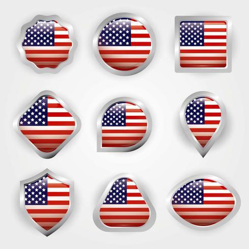 040fca60af7b American Flag Vector - Download Free Vector Art