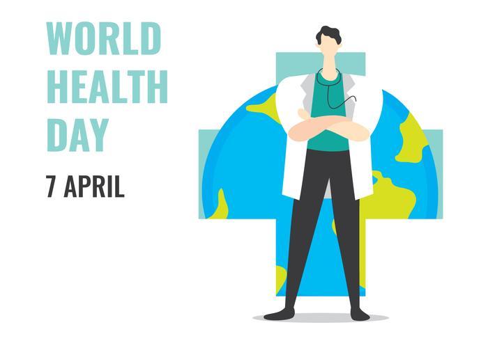 Celebre el Día Mundial de la Salud vector