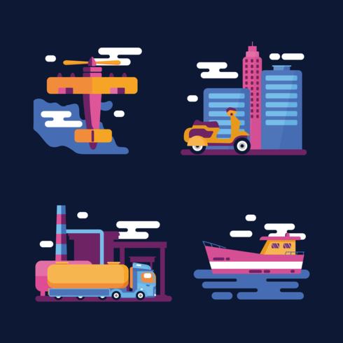 Transportation Clipart Vector