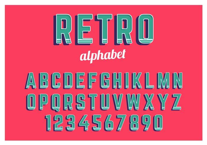 Retro alfabet ingesteld