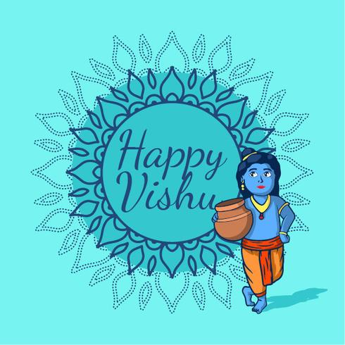 Happy Vishu vector