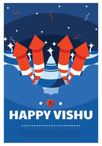 Glückliches Vishu-Vektor-Design