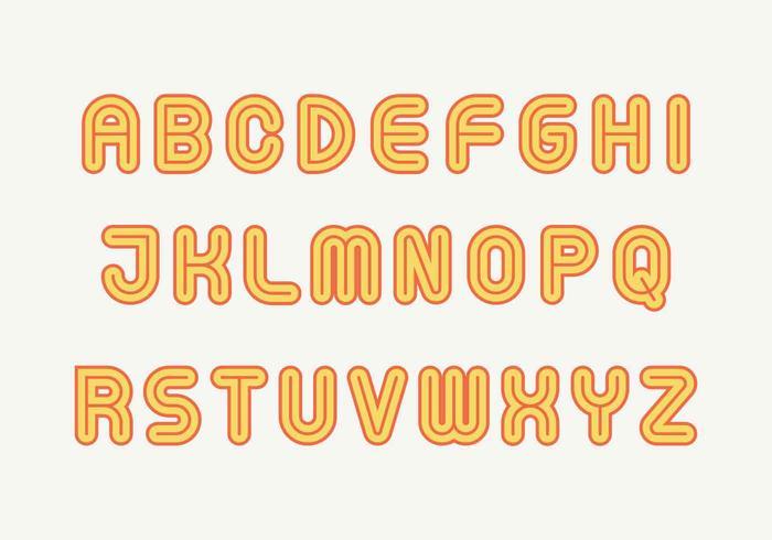 Vector alfabeto retro