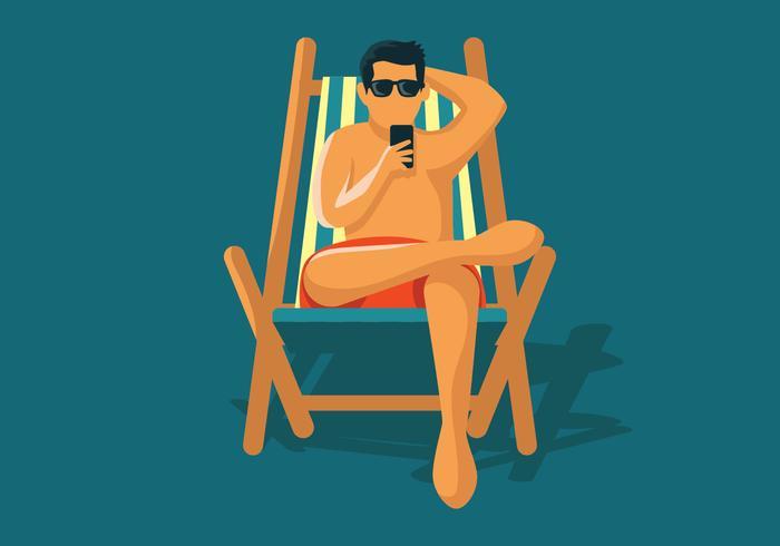 Uomo che gode dell'estate