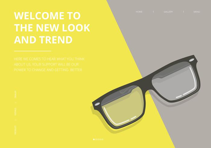 Sunglasses UI Web Product Template vector