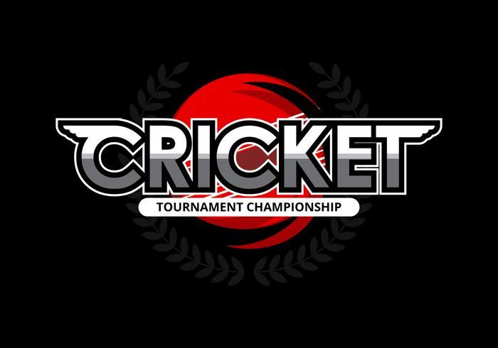 Illustration du logo de cricket vecteur