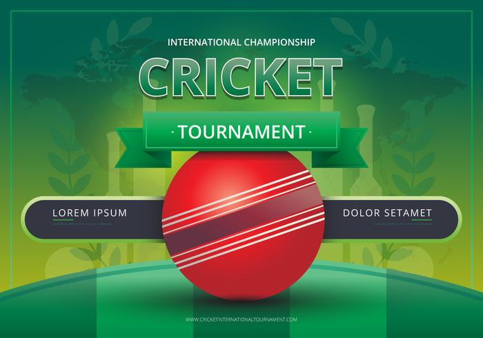 Cricket Logo and Tournament Battle Illustration