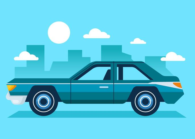 Vector retro del coche