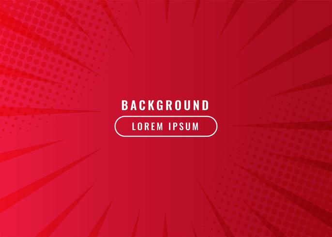 Roter komischer Zoom zeichnet Hintergrund