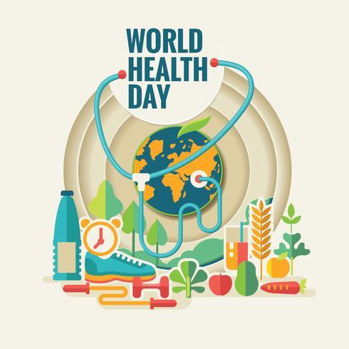 Weltgesundheitstag-Illustration