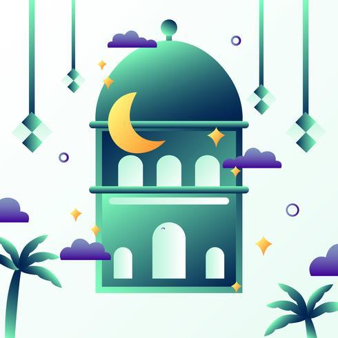 Gradient Eid Mubarak Bakcground Vector