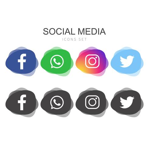 Popular Social Media logo collection vector