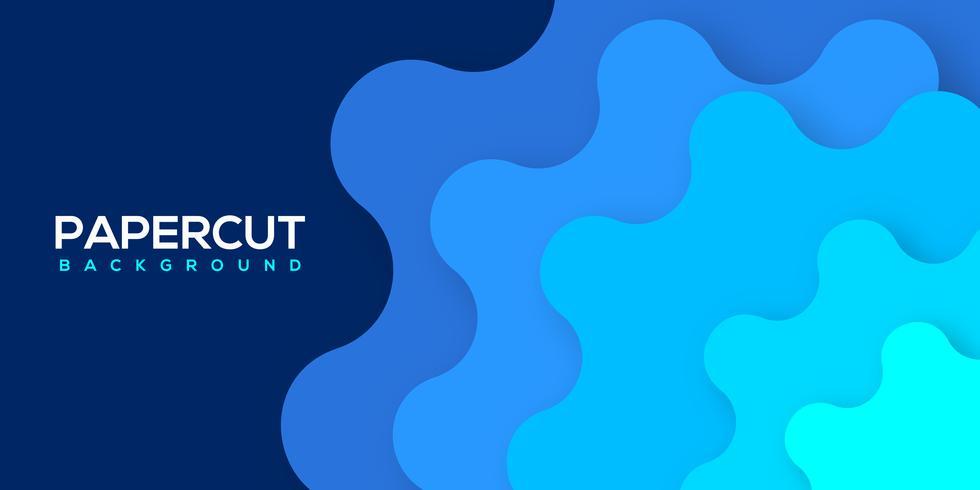 Vector de diseño de onda creativa papercut colorido abstracto