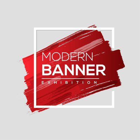 Modern banner of paint brush vector