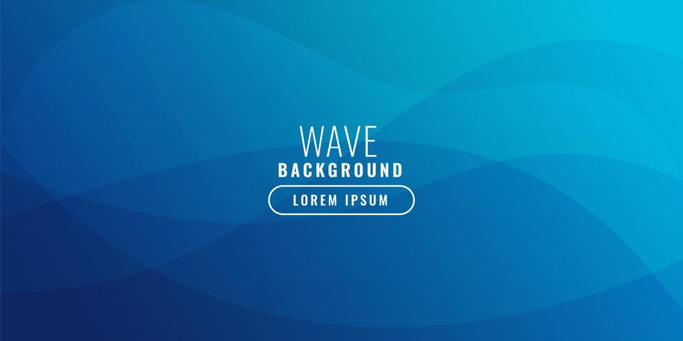 Blue wavy business background vector