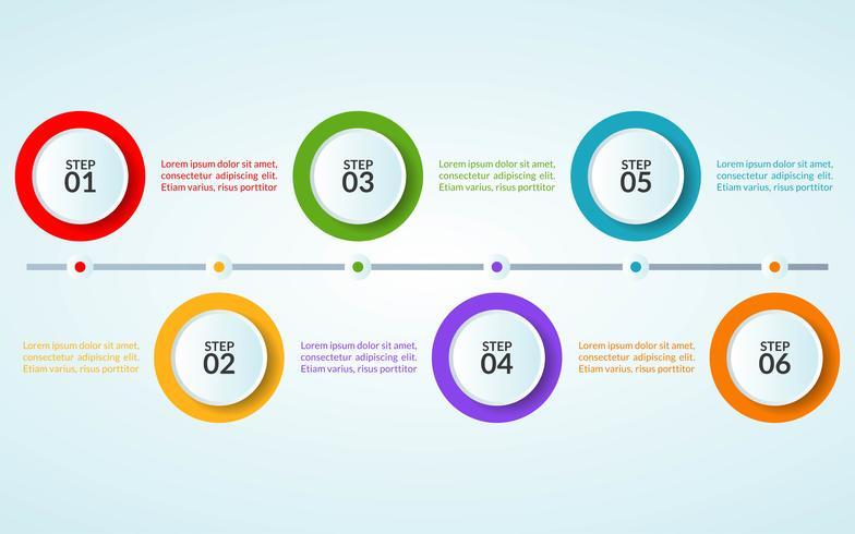 Plantilla de infografía de paso o diagrama de diagrama de flujo de trabajo vector
