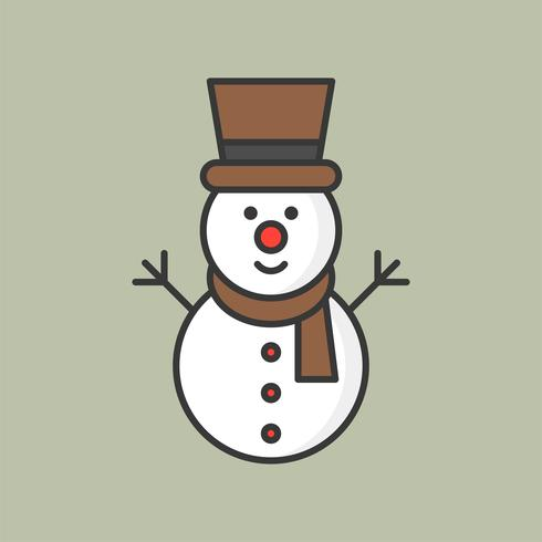 sneeuwpop, gevuld overzicht pictogram voor kerst-thema