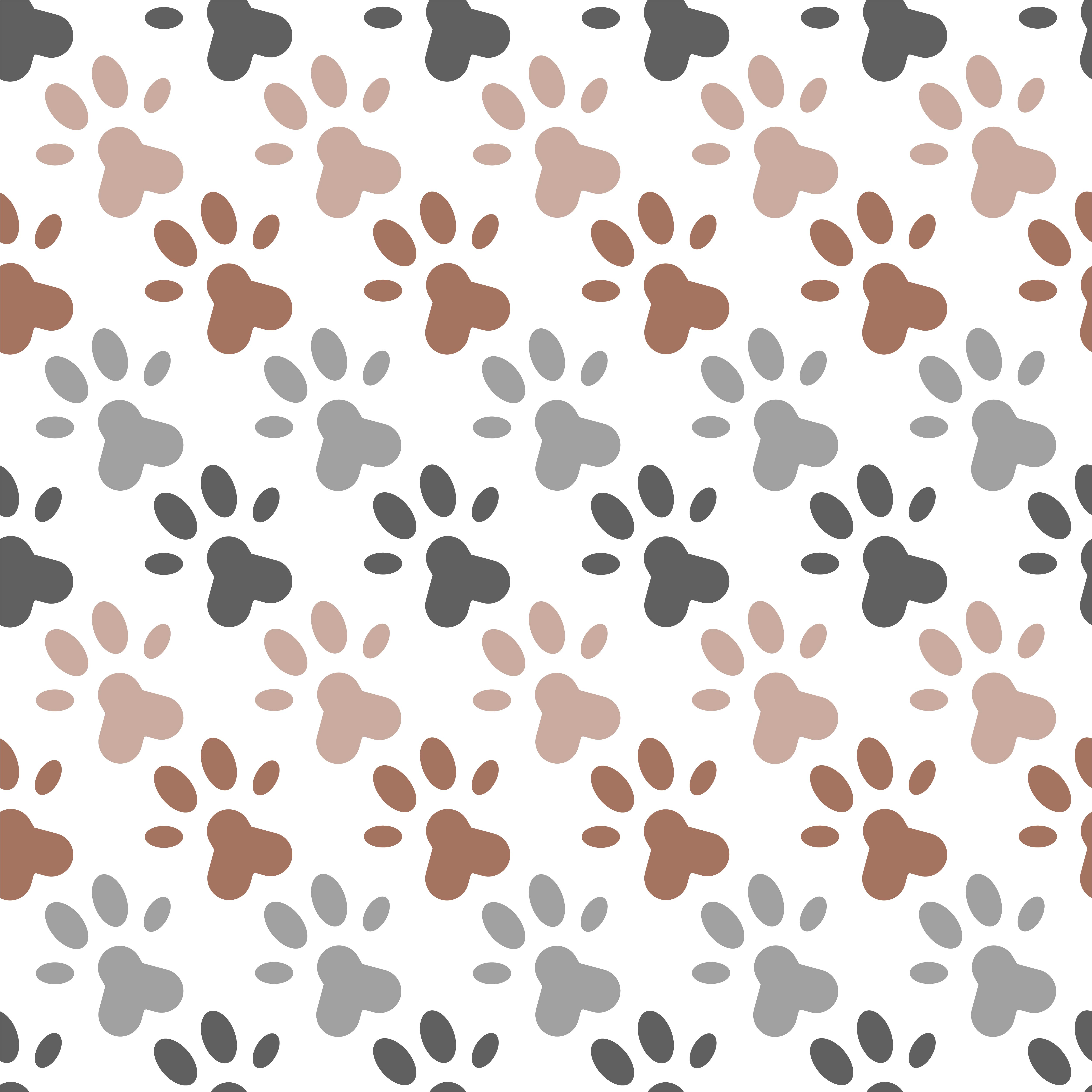 seamless pattern of paw foot print for wrapping paper or ...