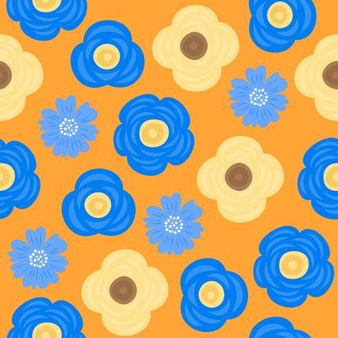 patrón floral sin fisuras, diseño plano para su uso como fondo