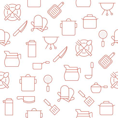 kitchen utensil such as coffee pot, pot, gloves, saucepan  vector