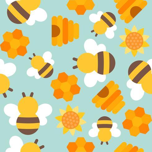 padrão sem emenda de abelha bonito para papel de parede ou papel de embrulho