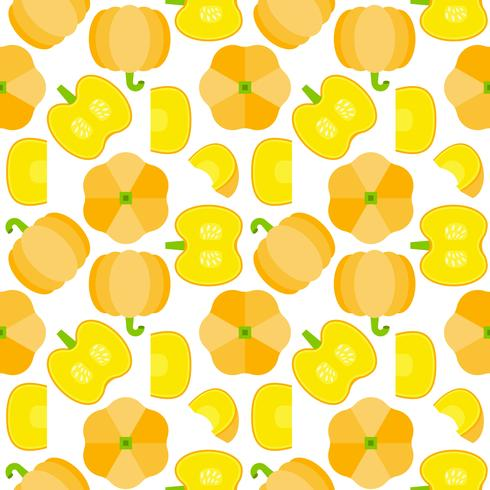 pumpkin seamless pattern for wallpaper or wrapping paper vector