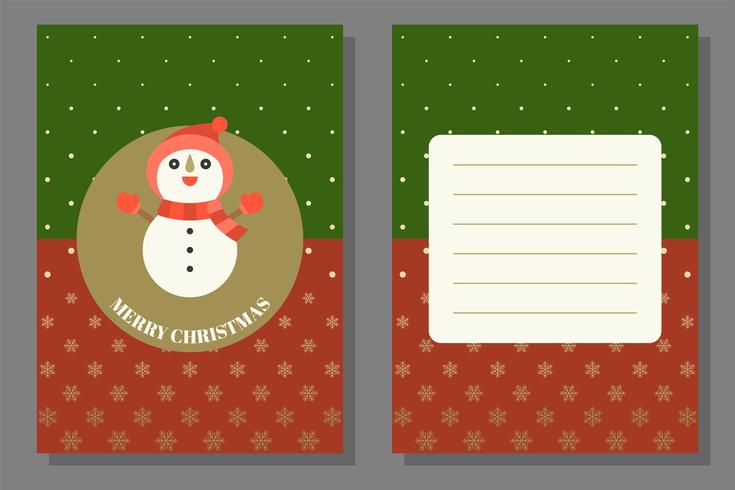 Christmas greeting or invitation card template, flat design vector