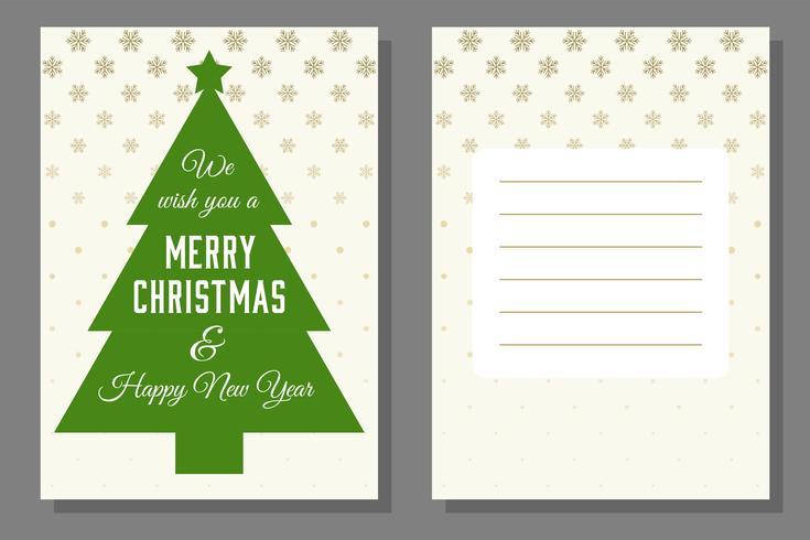 Saudação de Natal ou modelo de cartão de convite, design plano