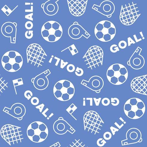 Thème de football de modèle sans couture, pour utilisation comme arrière-plan