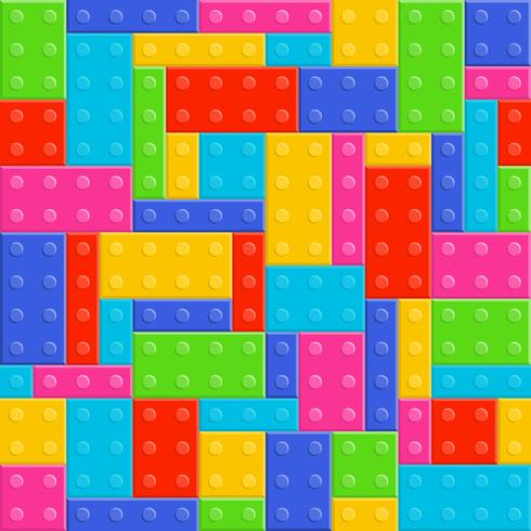 building blocks toy seamless pattern vector