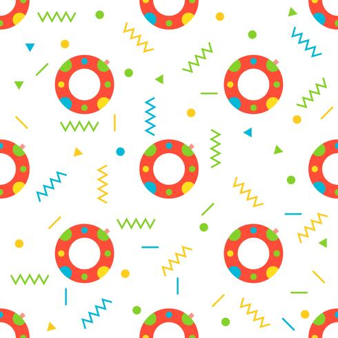 Swim ring seamless pattern for use as wrapping paper gift