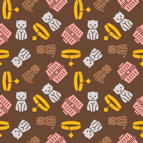 tema de gato e cachorro, sem costura padrão para papel de parede ou usar como presente de papel de embrulho
