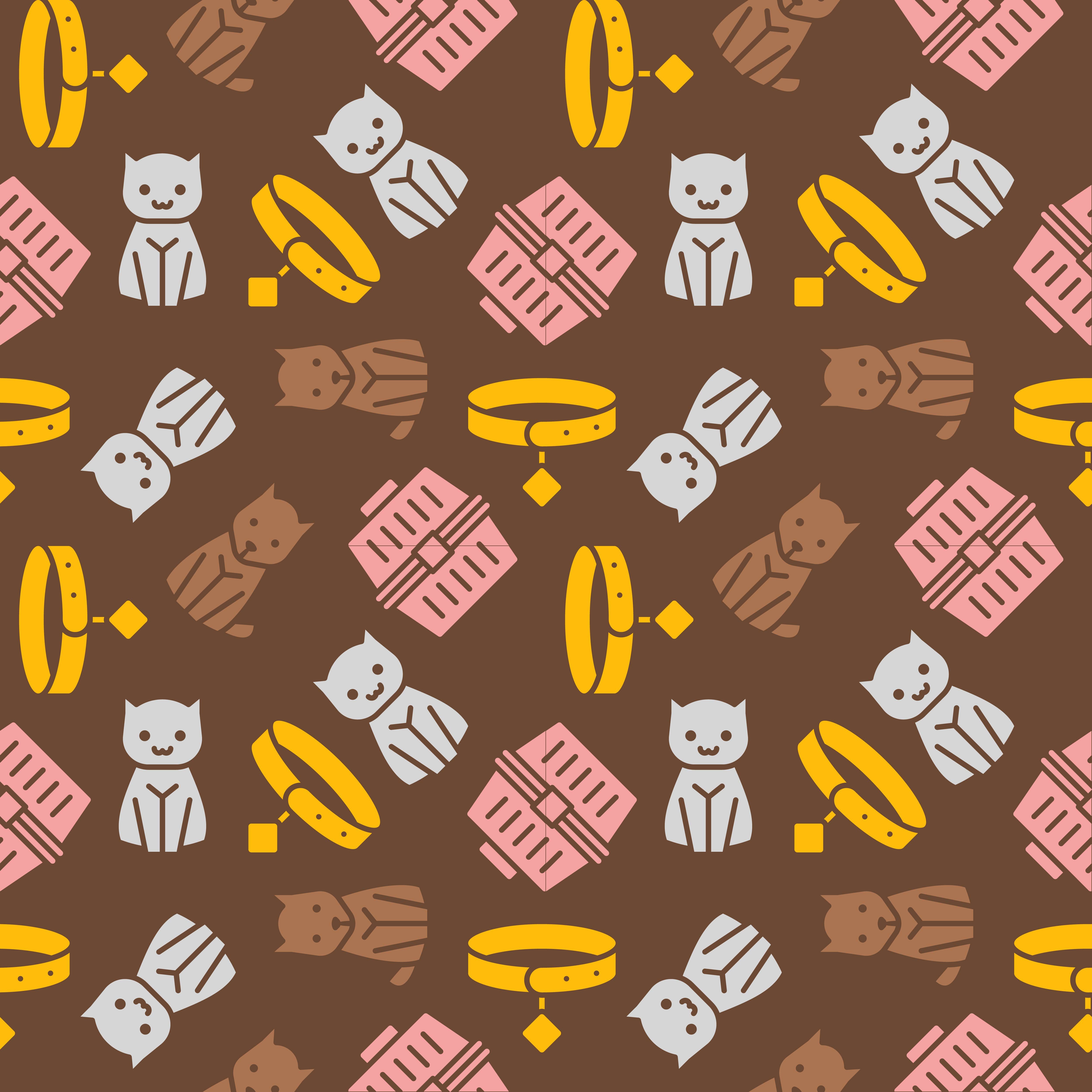 Cat And Dog Theme,seamless Pattern For Wallpaper Or Use As
