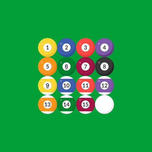 Sequence Billiard ball icon with number, flat design