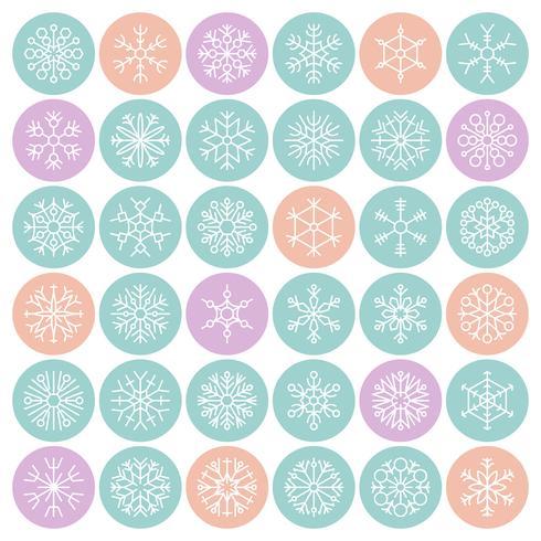 Sneeuwvlokken in perfecte cirkel pixel pixel perfect